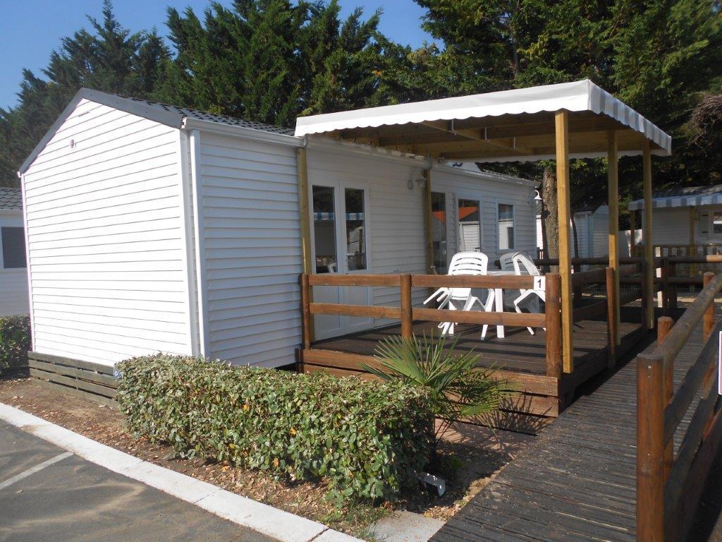 location mobil home PMR avec terrasse