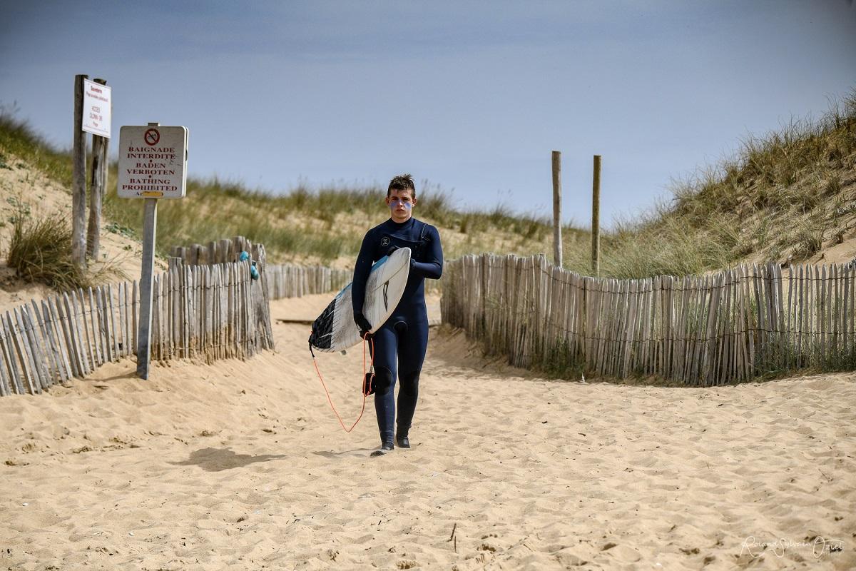 plage spot de surf camping Vendée