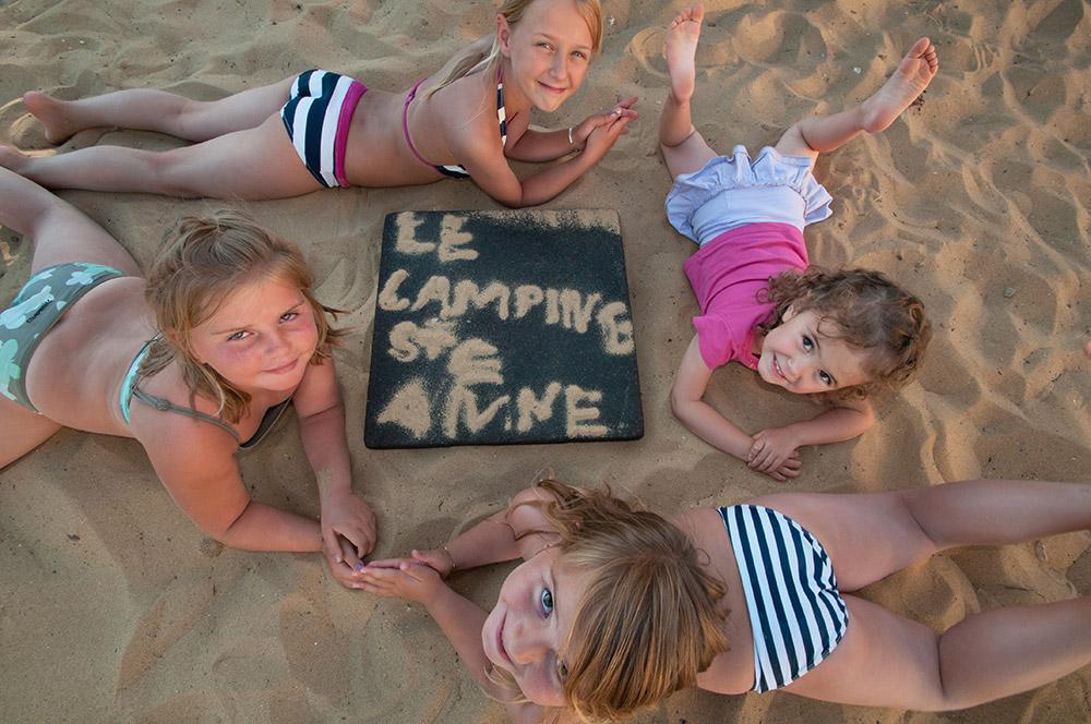 paradis des enfants au camping à la Tranche sur mer