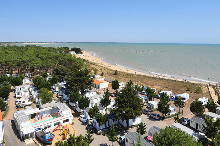 vue avec la webcam sur la plage de La Tranche sur Mer