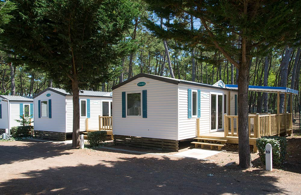 location mobil home petit camping Vendée